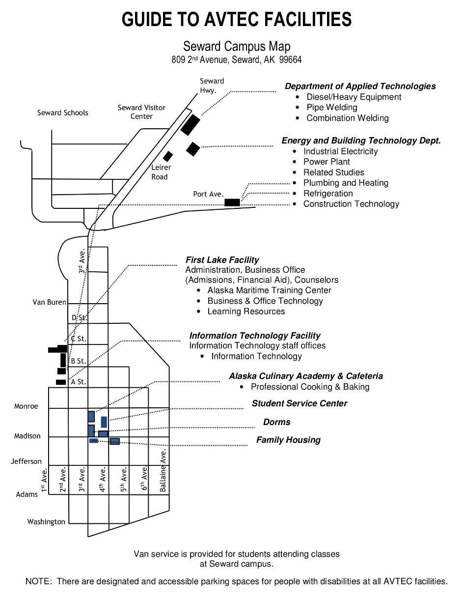 AVTEC Campus Map